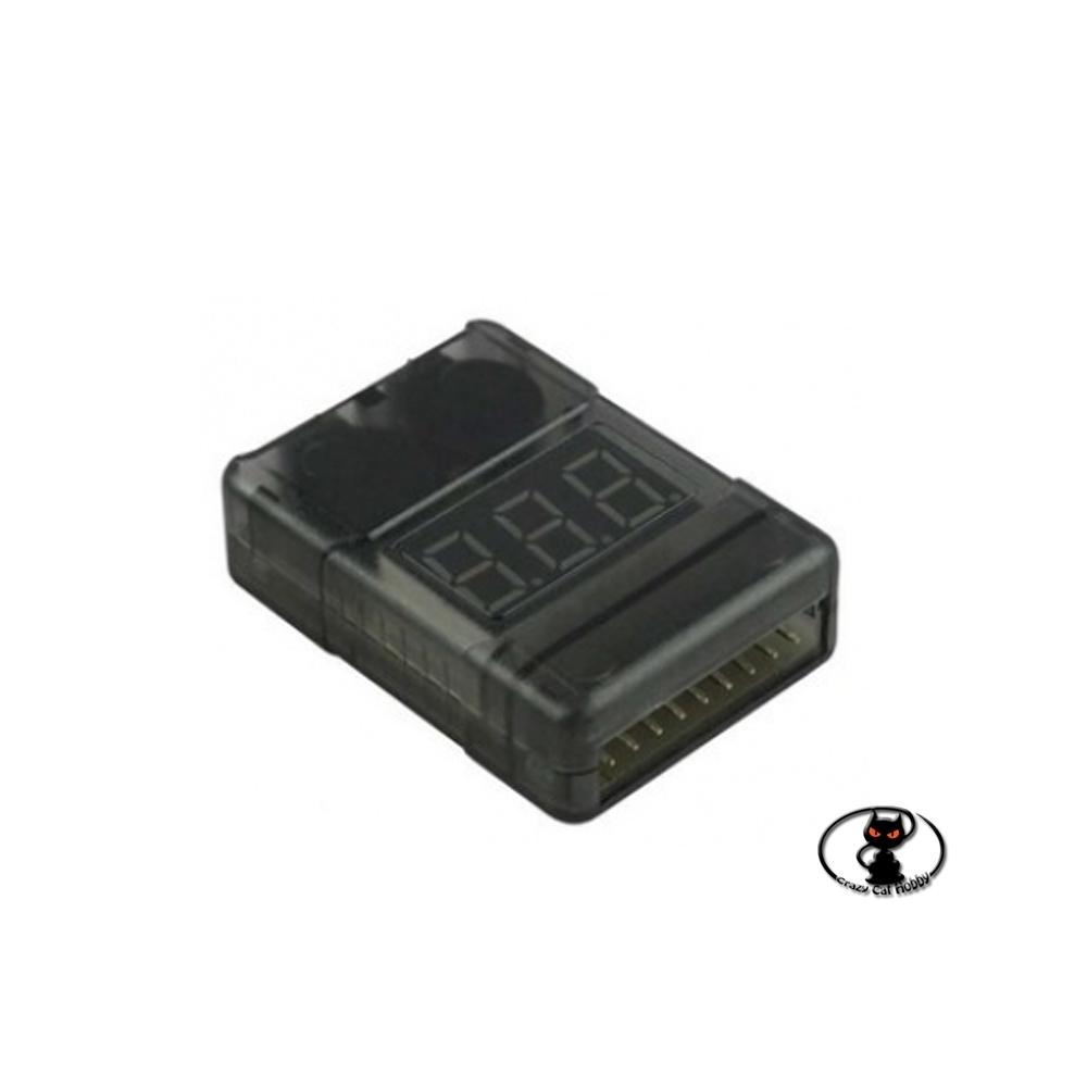 700227 Battery Checker è un comodissimo accessorio per misurare i valori  del vostro pacco batterie da 1 a 8s