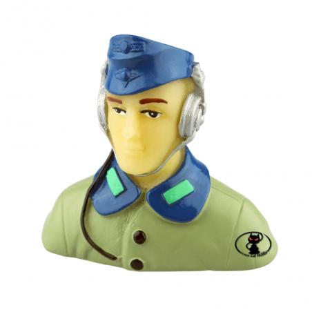 708803 Pilotino militare mezzobusto scala 1:10 verniciato