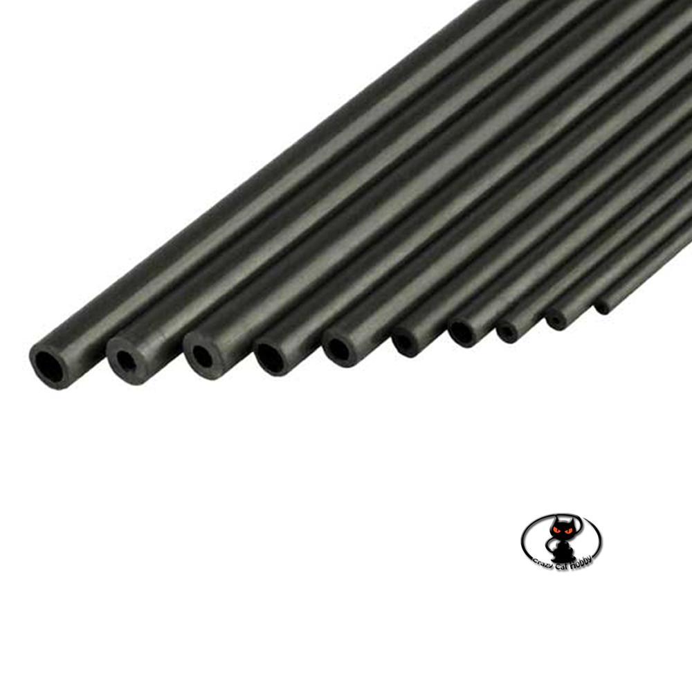 709067 Tubo in fibra di carbonio diametro esterno 6x4x1000 mm di lunghezza, per rinforzi strutturali e tiranti carbon fiber tube
