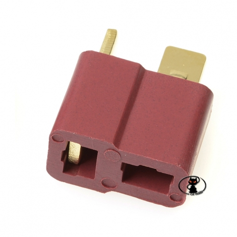 AM-615-10F Connector female deans female red color single piece red