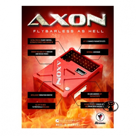 AXON Bavarian Demon AXON 3-axis stabilizer for helicopters with governor