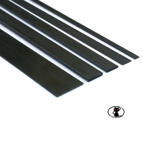 C4271 Full carbon fiber strip 3x1x1000 mm long for structural reinforcements and tie rods