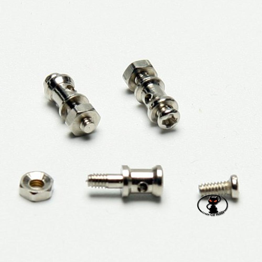 Morsetto attacco fermabarre per barre fino ad 1,5 mm con vite di fissaggio e dado diametro 2 mm confezione 5 pezzi C5813