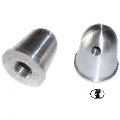 Ogiva - dado in alluminio esterno mm 22 foro albero motore con filetto M5 adatto per fissare eliche di piccole dimensioni C8541