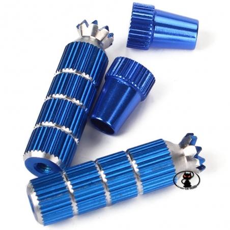 Leve lunghe per stick della radio. Realizzate in alluminio con foro filettato M3 colore blu altezza totale 42 mm