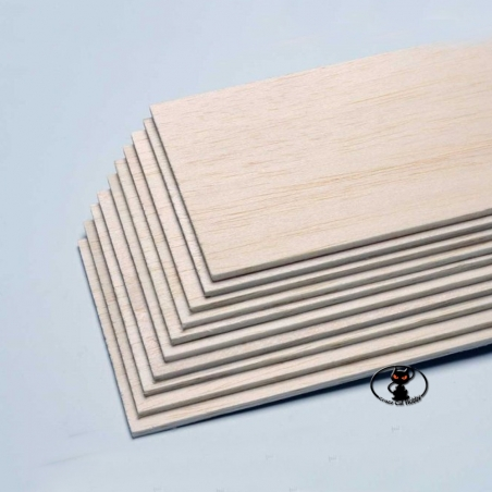 Tavoletta di balsa spessore 1,5 mm larghezza x lunghezza 100x1000 mm.Per costruire o riparare i vostri modelli