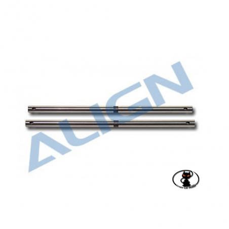 High rigidity steel shaft, 2 pieces, for Align T Rex 450 XL / S / SE / V2