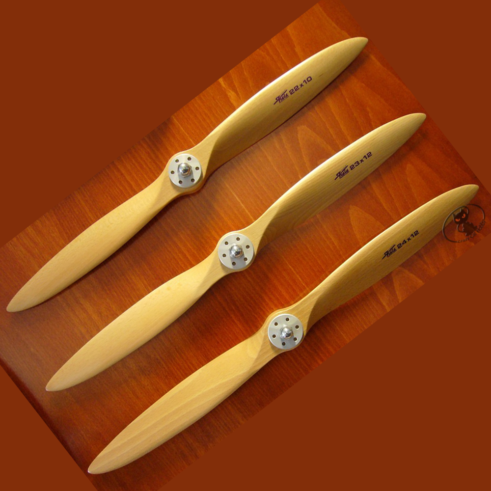 23x8 bipala wooden propeller Fiala brand very high quality very light top performance balanced at the factory 11230821