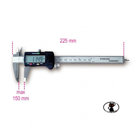 0-150 mm LCD digital caliper in metal