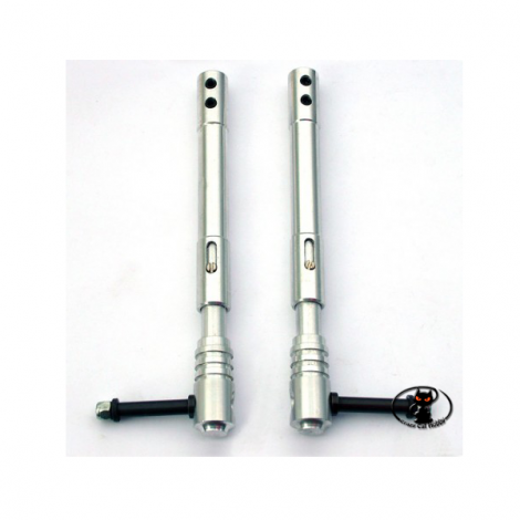 CAR / 15162/000 Pair of telescopic trolleys mm 150 in aluminum
