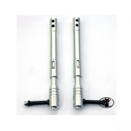 CAR/15162/000 Coppia Carrelli Telescopici mm 150 in alluminio ammortizzati
