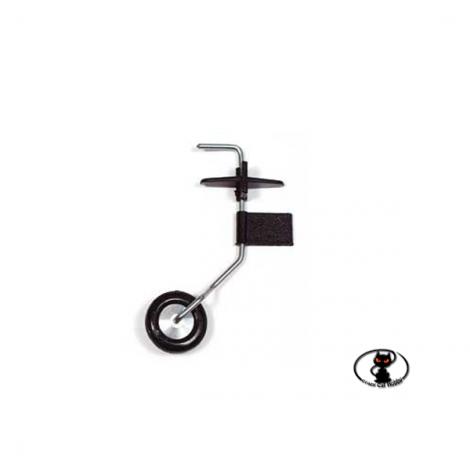 CAR/15041/000 Carrello di Coda Orientabile in acciaio e resina con Ruota