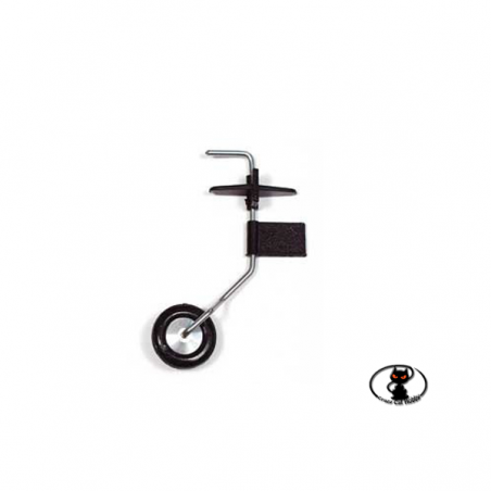 CAR / 15041/000 Adjustable tail carriage made of steel and resin with wheel