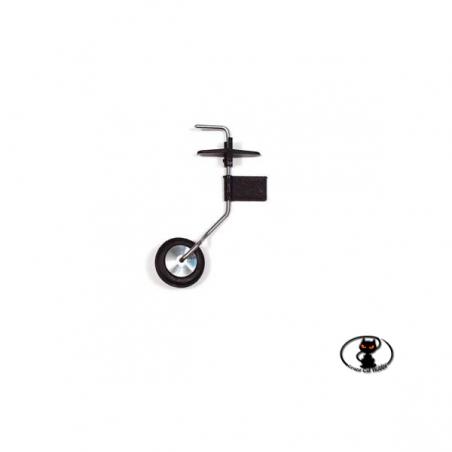 CAR/15042/000 Carrello di Coda Orientabile in acciaio e resina con Ruota ø 31 mm
