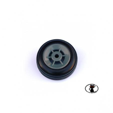 RUO / 34340/000 Pair of Rubber Wheels Nylon Rim 40 mm