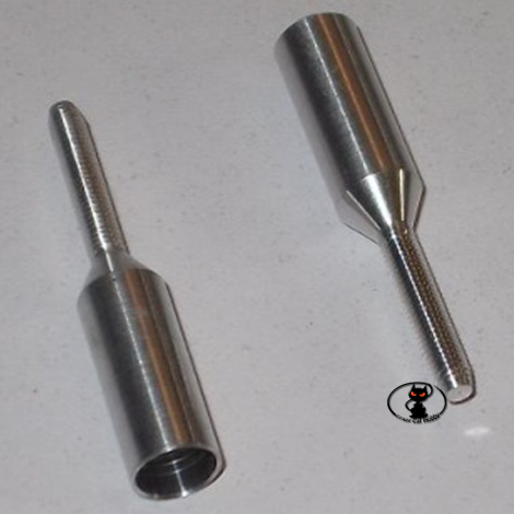 Aluminum terminal for 5mm aluminum or carbon rods. with 2 mm thread HCAQ8026
