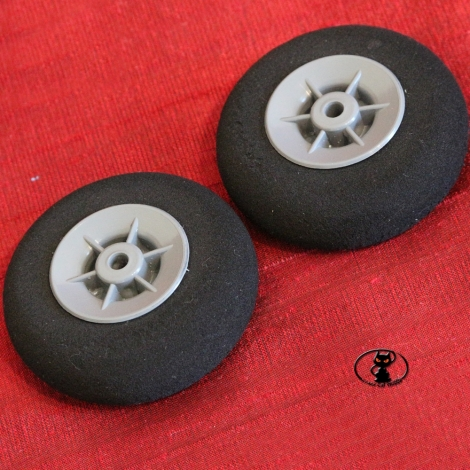 ruo / 34130/055 Pair of Sponge Wheels Rounded Profile mm55