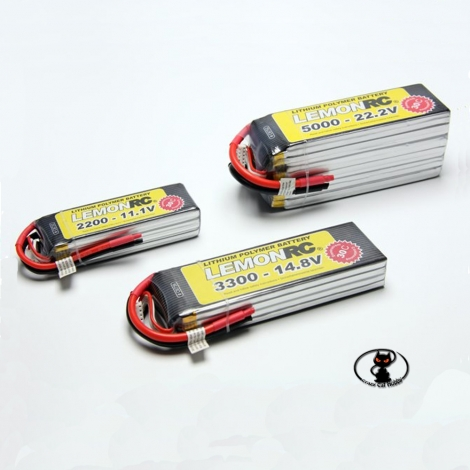 C6739 Lipo Battery 3300 mAh 4S 14.8 Volt - LEMONRC - 30C continuous - 60C peak 4 cells