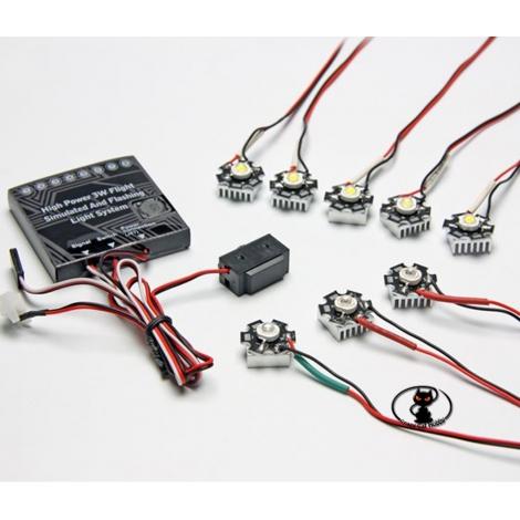 C6858 Centralina luci di navigazione ad alta visibilità con 8 led ed 8 programmi di funzionamento selezionabili dalla radio