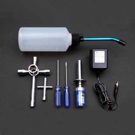 114357-B7002 Starter kit for cars plane and RC boats with boiler heaters loader bottle wrench mix screwdrivers