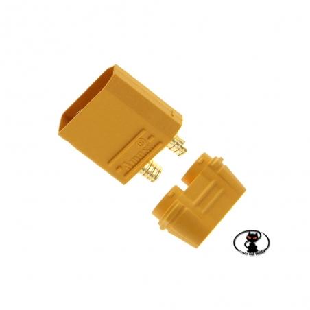 Kit connettori polarizzati per batterie XT90 Amass maschio 1 pezzo maschio fino a 90 A in continuo CCH062(AM-630-10M)