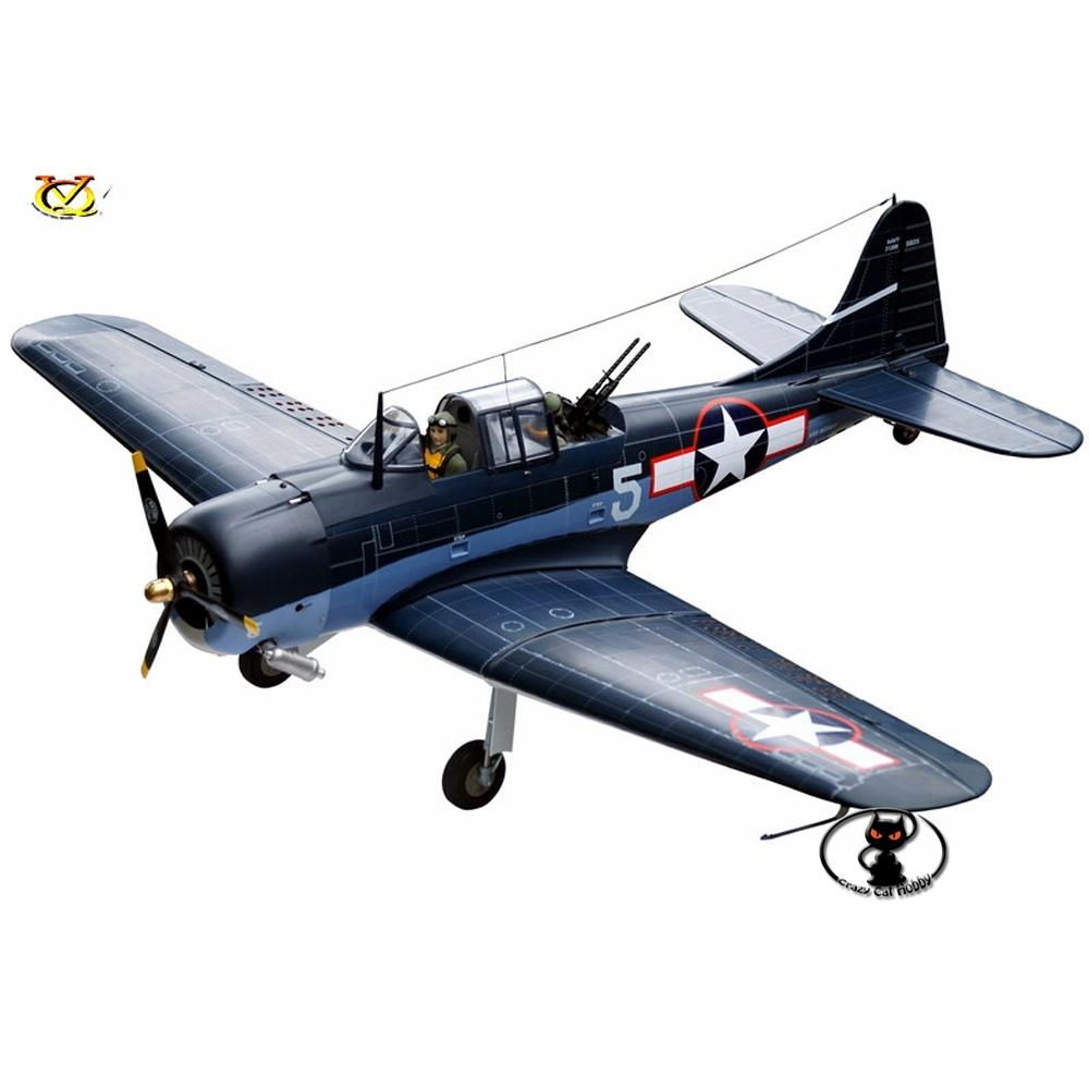 Aeromodello riproduzione del Dauntless SBD 1540 mm di apertura alare motorizzazione ascoppio o elettrica classe .46