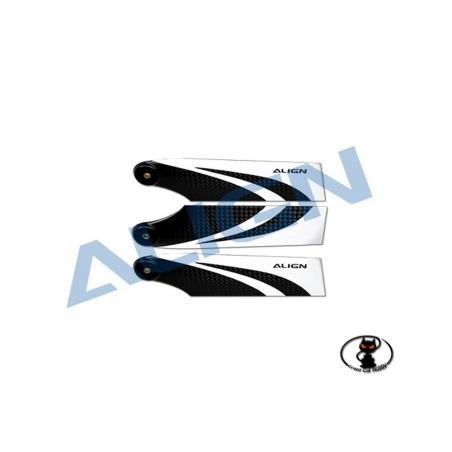 Set 3 palini in fibra di carbonio Align 90 mm per rotore di coda tripala  per T Rex 550E 600 HQ0900DT