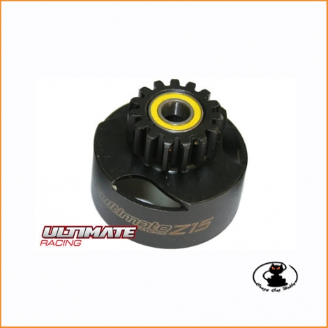 Ultimate ventilated clutch bell 15 teeth with bearings UR0663 for RC cars 1:8 and 1:10 scale
