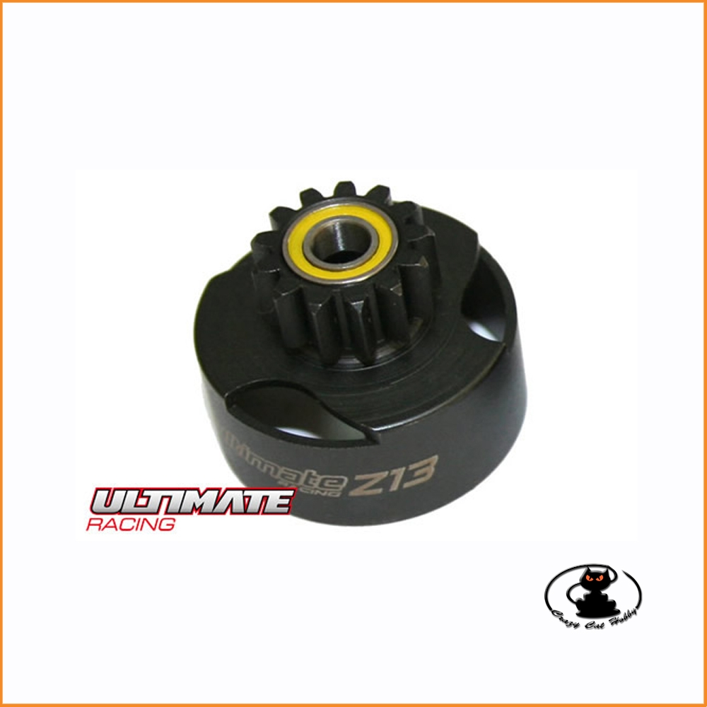 Ultimate ventilated clutch bell 13 teeth (13T) with bearings UR0661 for RC Cars 1:8 and 1:10
