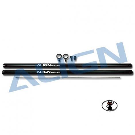 Tail boom black 2 pieces for Align T Rex 450 XL S SE V2  Sport  Pro black color Align H45096