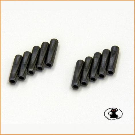 headless screw flat tip M3x12 burnished steel