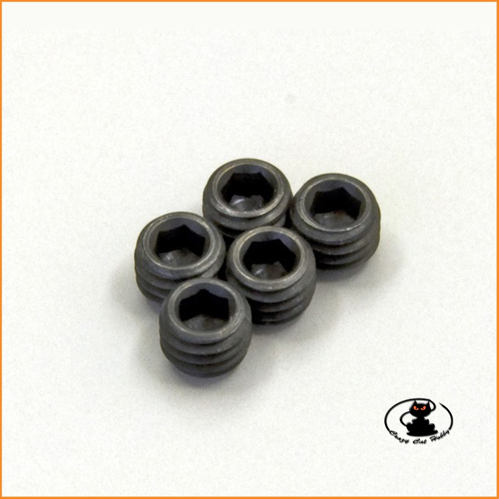Grani M4x5punta piatta in acciaio brunito