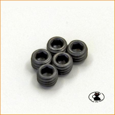 Grub screw flat tip M5x4 burnished steel
