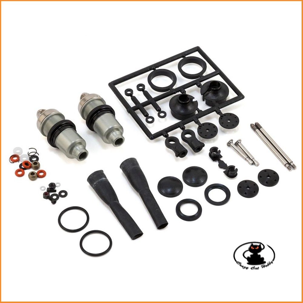 Front shock absorbers kit Big Shock HD coating for Kyosho Inferno MP9 - IFW471