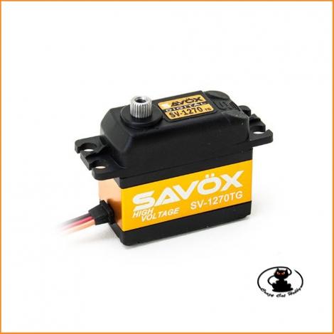 Savox 1270TG servo ad altissima coppia (36 Kg.)  Digitale Coreless, HV, con ingranaggi in titanio