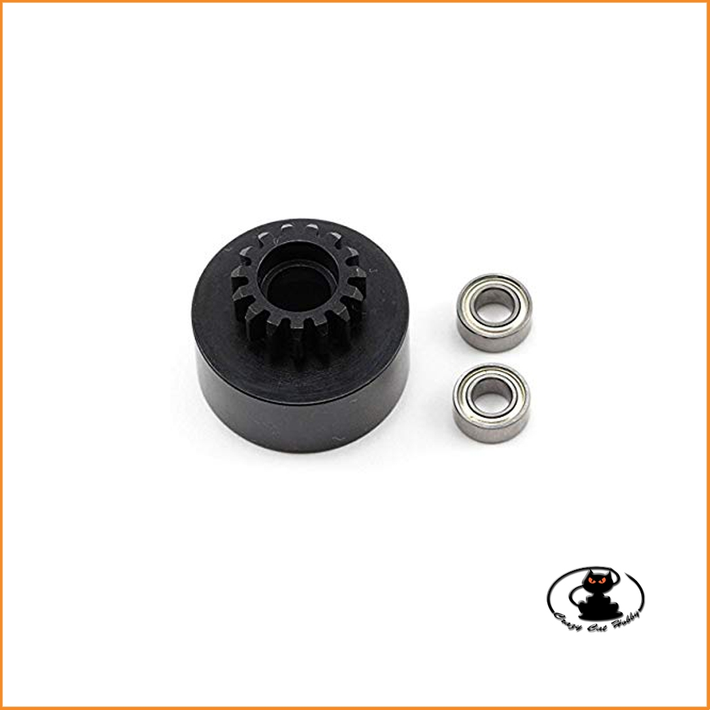 Clutch bell 15T with 2 ball bearing Tekno art. TKR4125