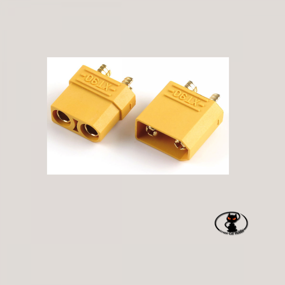 pair of XT90 connectors for high amperage batteries
