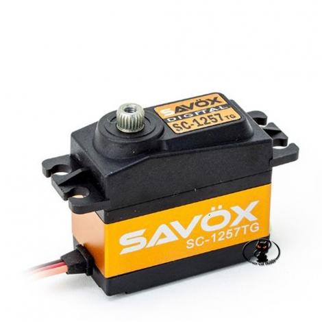 SAVOX SC 1257 TG digital servo control 10 kg cm of torque at 6 Volt 0,07 60 ° with titanium gears and aluminum case sax100tg
