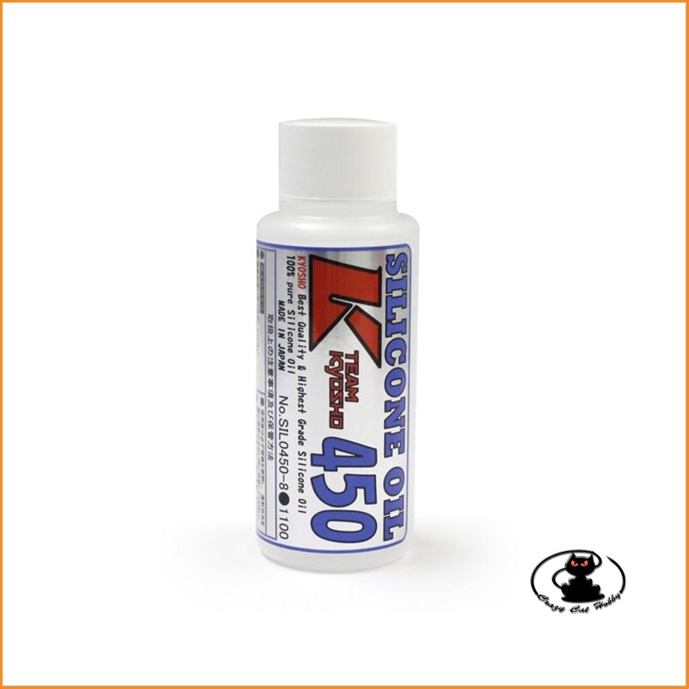 450 CPS Olio al silicone per ammortizzatori (80cc) Kyosho SIL0450-8