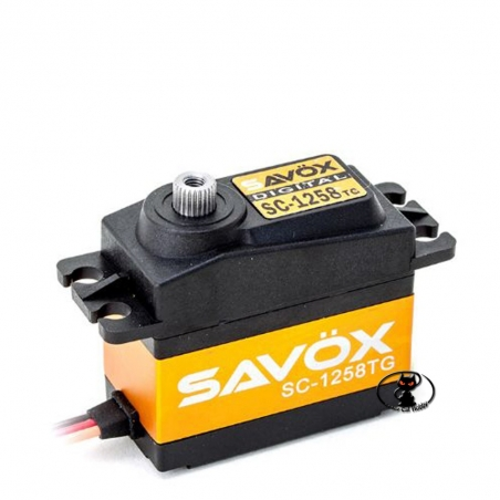 SAVOX SC-1258 digital servo control TG 12 kg / cm of torque at 6 Volt, 0,08 60 ° with titanium gears and aluminum case sax106TG