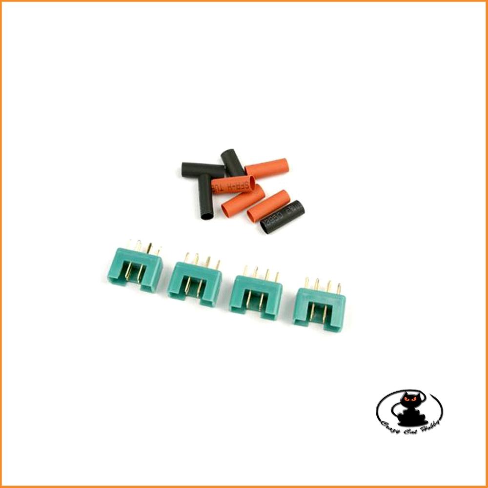 set 4 connettori maschio MPX con termoretraibile