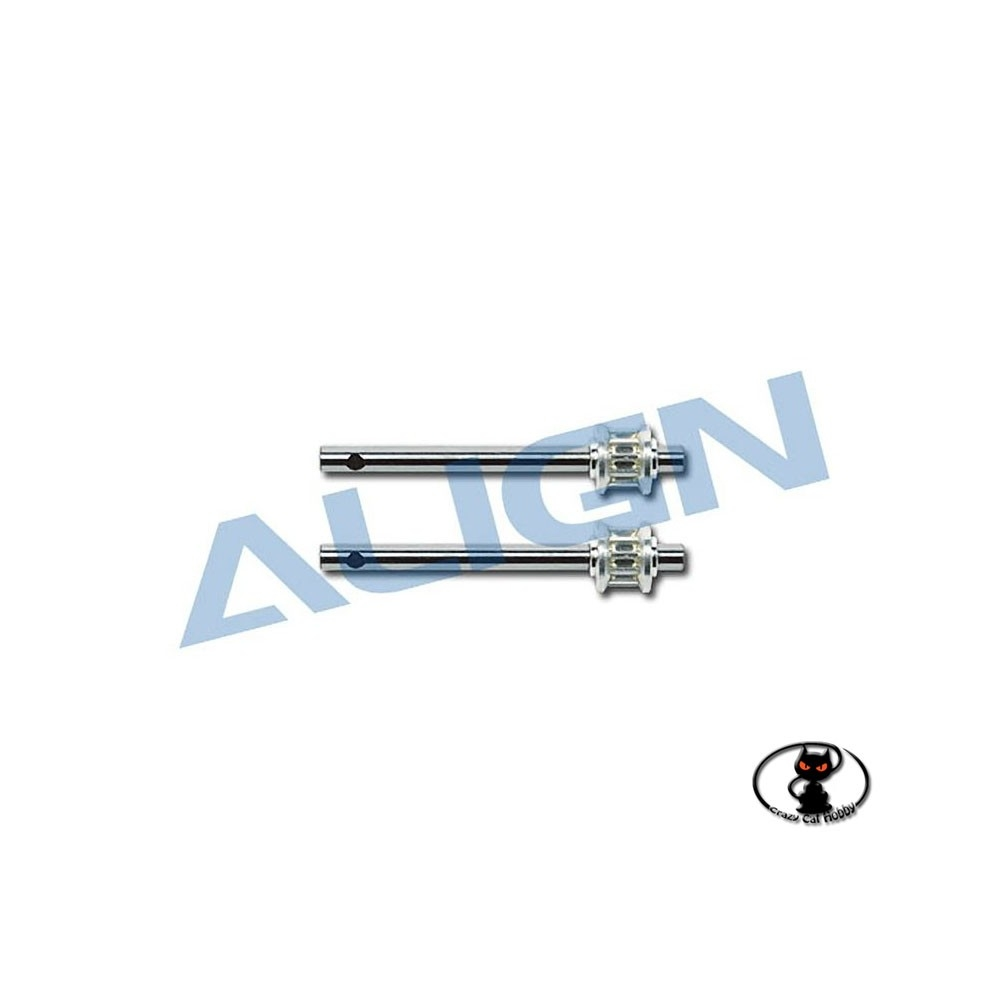 Belt tail rotor shaft 2 pieces for Align T Rex 450 XL / S / SE / V2 / Sport H45100T