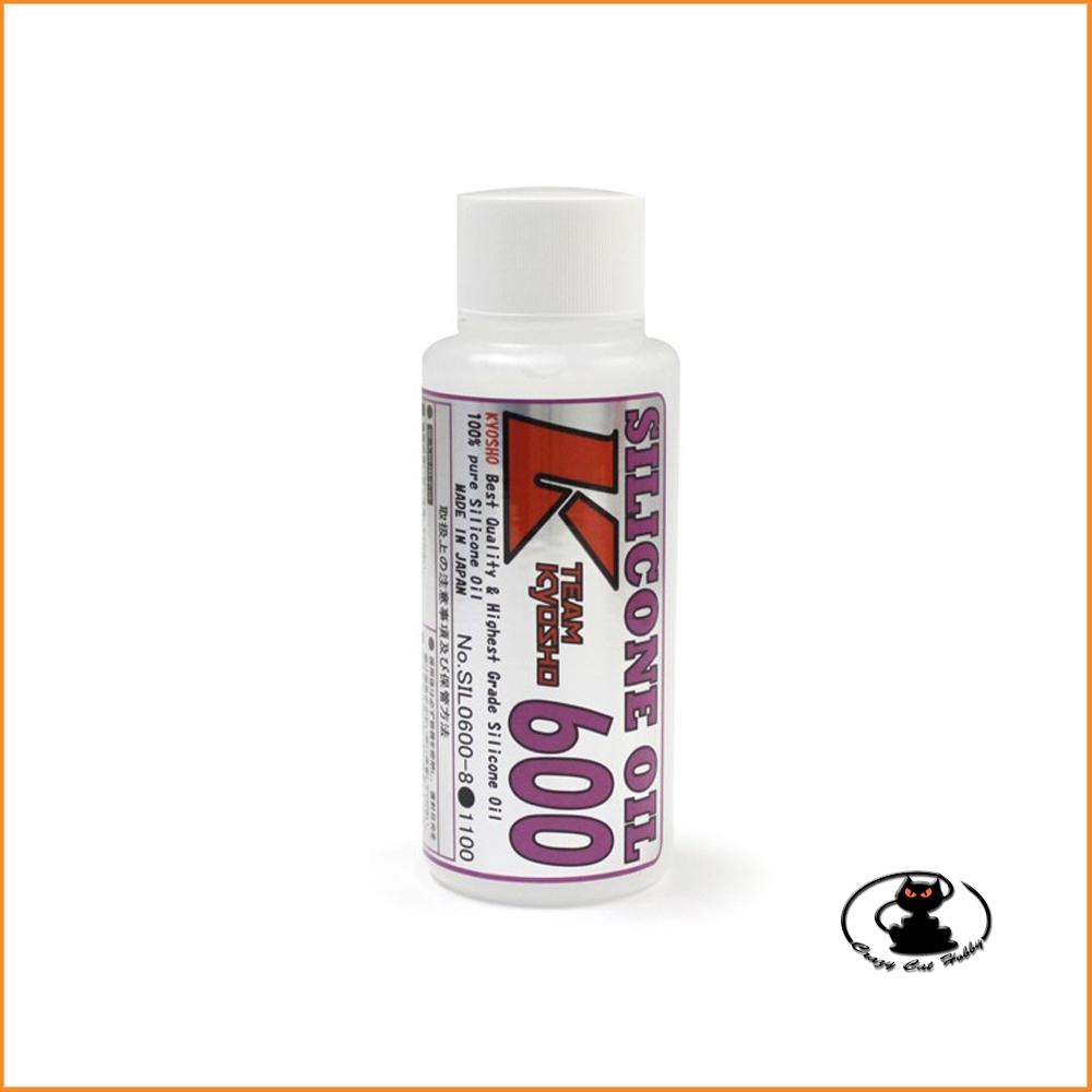 Olio siliconico per ammortizzatori 600 CPS (80cc) Kyosho SIL0600-8