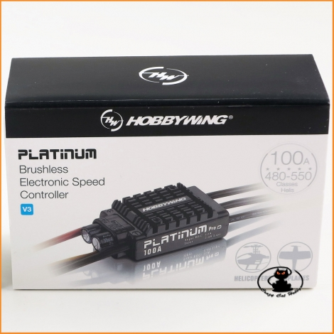 HW30203900-Hobbywing Platinum PRO V3 100A 2-6S BEC 10A class: for heli 500/550 aircraft 0.70