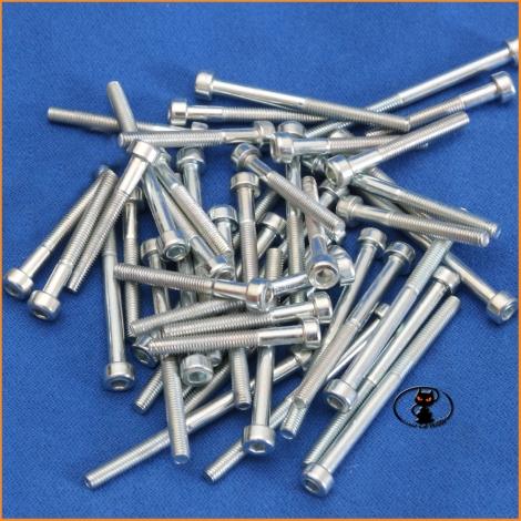 Screws M5x40 cylindrical head half thread galvanized