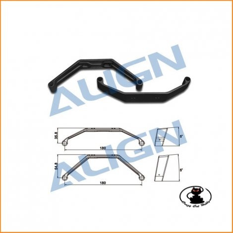 H70F001XA 700X Landing Skid - Black -suitable for T Rex 550/600/700/800