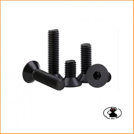 Screws countersunk allen burnished M3x16 mm ( 10 pcs )
