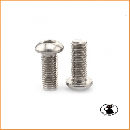 Screw M4x8mm Allen round head steel (20 pcs) for rc cars engines or general use