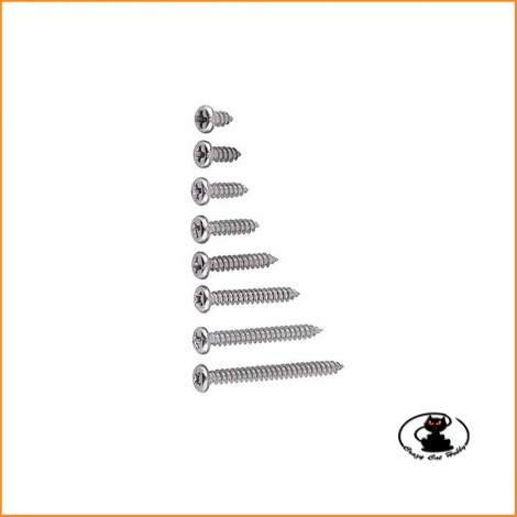 Self-tapping screw cross cutting 3x8mm (10pcs) for wood plastic iron
