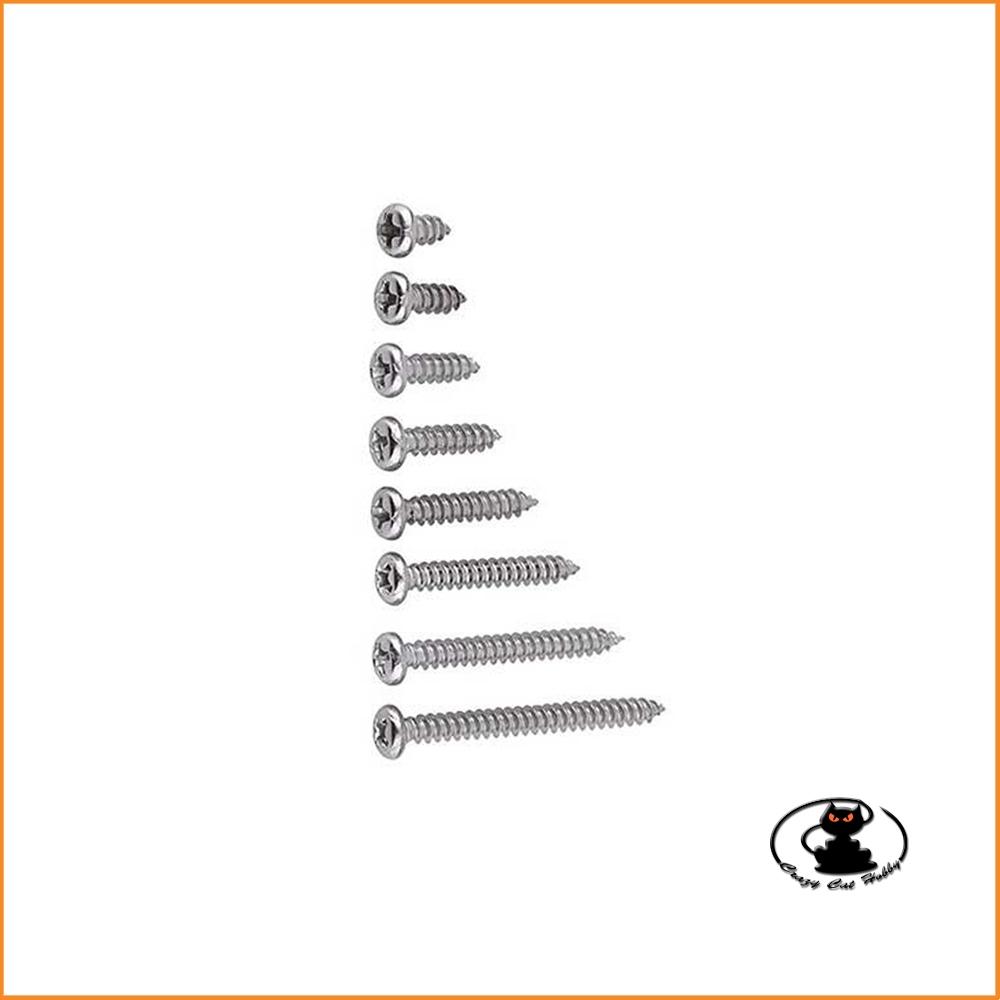 Self-tapping screw cross cutting 3x8mm (10pcs) for wood plastic iron